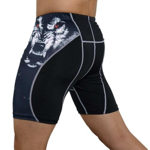 Compression Men Tights Fitness Elastic Running Shorts Quick-dry Fit Gym Sport