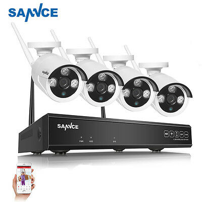 4CH 720P WLAN Überwachungset HD Komplettset Videoüberwachung FUNK IP Kamera