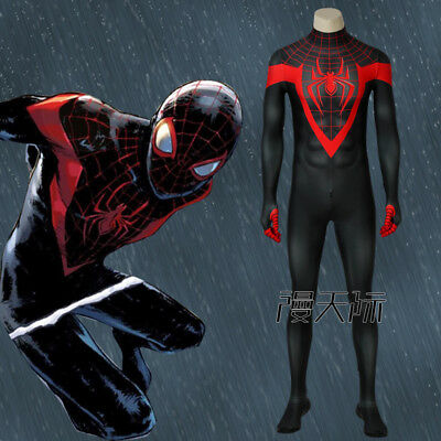 Ultimate Amazing Spider-Man Miles Morales Cosplay Kostüm Costume Halloween
