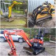 Mini excavator hire Ferntree Gully Knox Area Preview