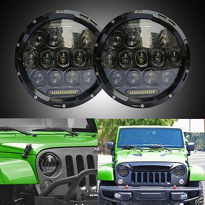 """2X7"""" Round 150W Total CREE LED Headlights Hi/Low 97-17 JEEP Wrangler JK TJ CJ H"""