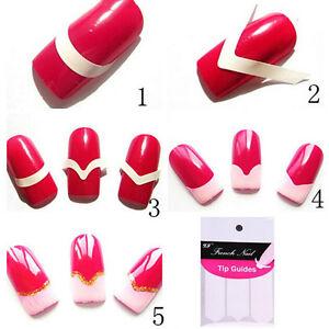 10 Sheets 480pcs French Manicure Uv Gel Polish Tip Guide Strip Nail Art Tool ZY