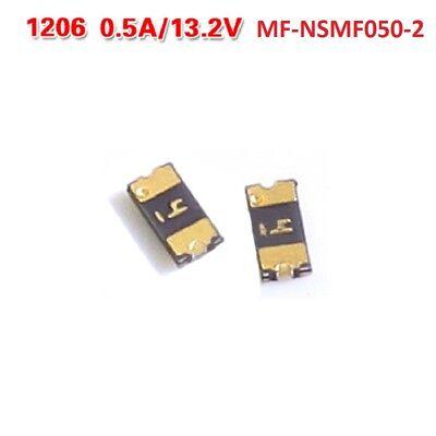 10pcs 1206 Series Smd Resettable Fuse 13.2v 0.5a Mf-nsmf050-2 500ma Mini Fuse