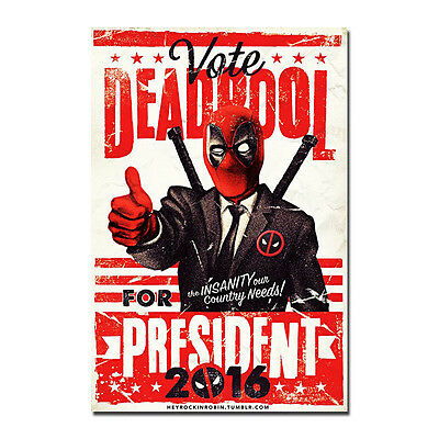 Deadpool Superhero Comic Movie Silk Poster 12x18 24x36inches - Superhero Poster
