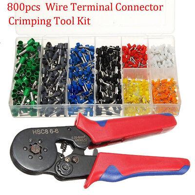 0800connector Wire Terminal Crimp Tool Kit Ferrule Crimper Plier Stripper Useful