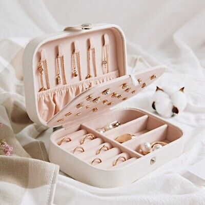 Ornament Case (Portable Travel Jewelry Box Organizer Velvet Ornaments Case Storage Fashion)