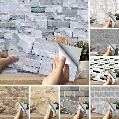 Home Decoration - DIY 3D Self Adhesive Wall Tile Sticker Vinyl Bathroom Kitchen Home Decor Hot