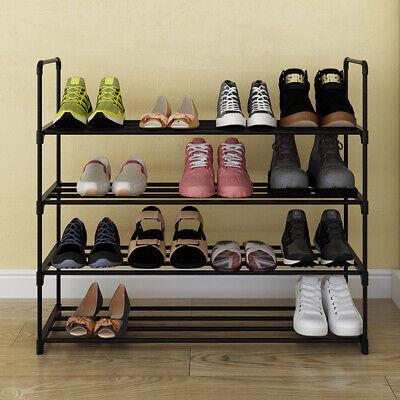4 tier Shoe Rack for 20 Pair Wall Bench Shelf Closet Organizer Storage Box Stand 4 Tier Shelf Rack