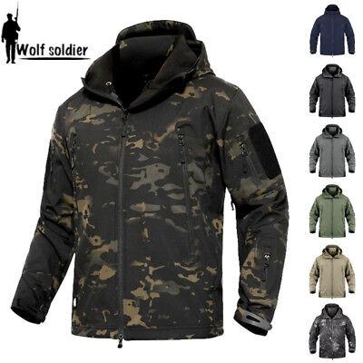 Waterproof Tactical Herren Soft Shell Jacke Coat Army Jacke Windbreaker Hooded Hooded Softshell Jacke