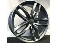 "19"" RS6C style alloy Wheels & Tyres Audi A3, A4 VW MK,6,7, Golf, Caddy, Jetta, Seat"