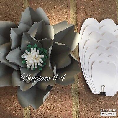 Hard Copy Paper Flower Template #4, DIY Paper Flower Backdrops, Flower Petals