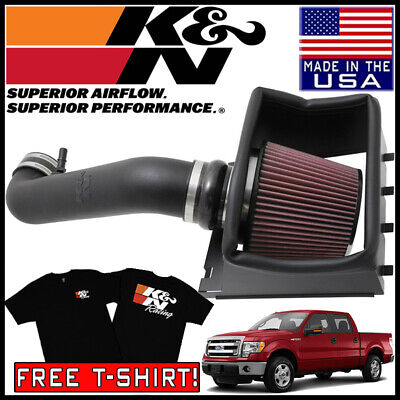 K/&N Performance Cold Air Intake Kit 77-2591KP with Lifetime Filter for Ford F150 5.0L V8
