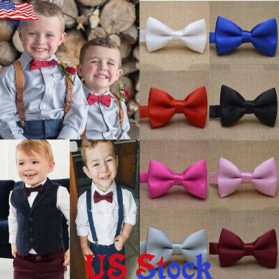 Child Kids Baby Boys Bow Tie School Wedding Party Xmas Formal Pageant Necktie US](Christmas Bow Tie)
