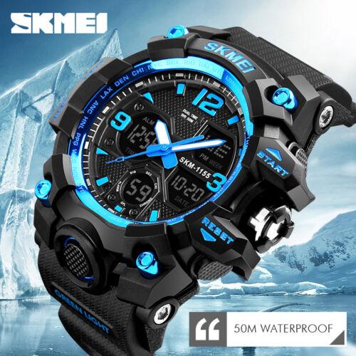 Herren Sportuhren Military Shock Analog Quarz Digital Armbanduhr Wasserdicht DE