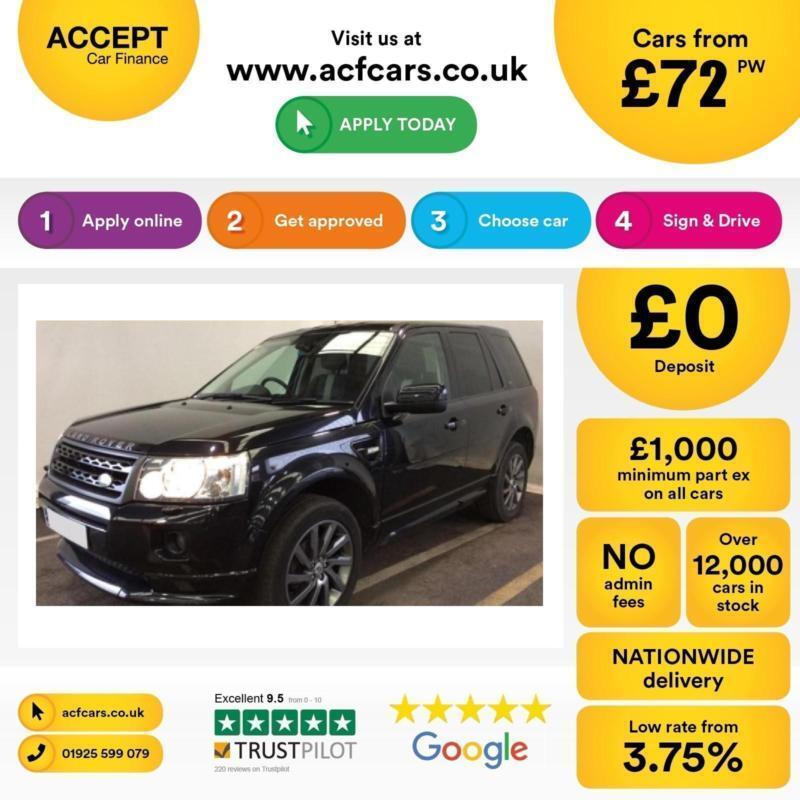 Land Rover Freelander 2 FROM £72 PER WEEK!
