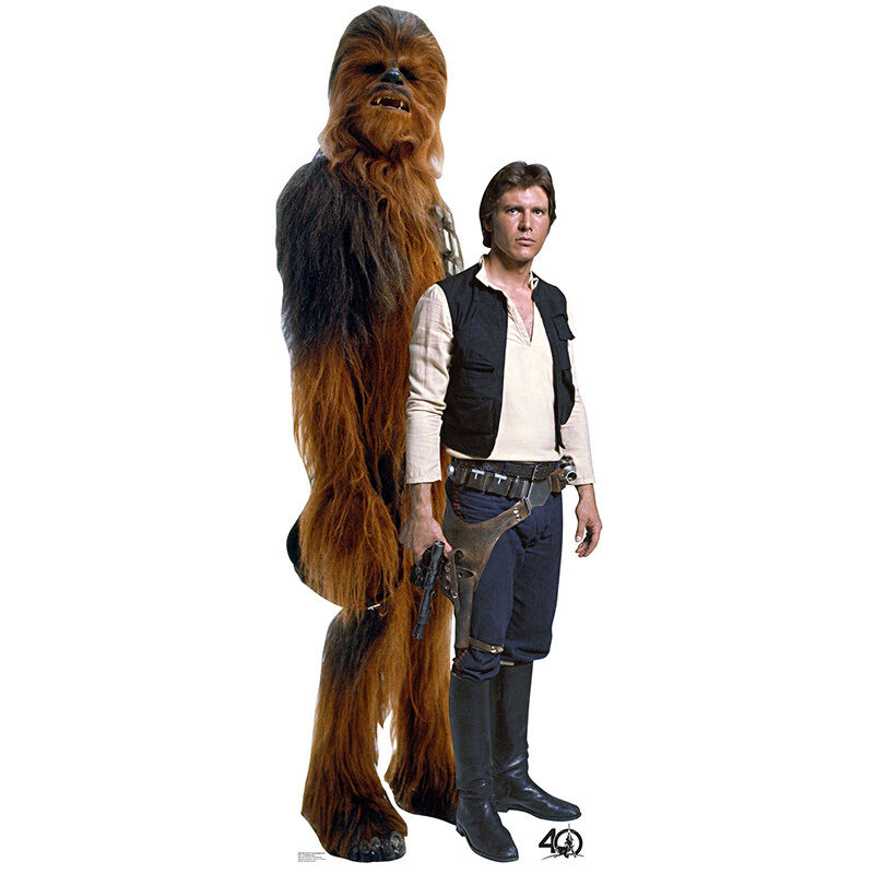 CHEWBACCA Star Wars Chewie Retouched CARDBOARD CUTOUT Standup Standee Poster F//S