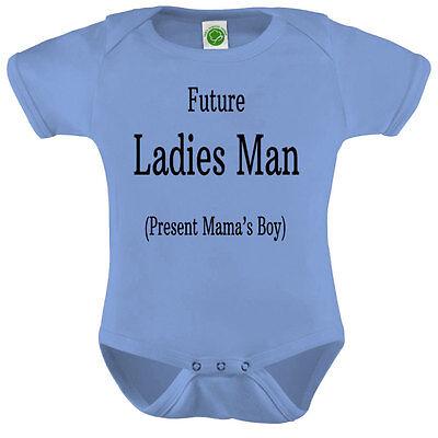 Future Ladies Man Onesie ORGANIC Cotton Romper Baby Shower Gift Funny - Funny Onesies For Men