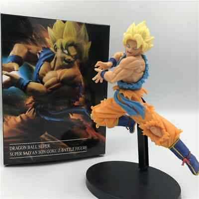 Dragon Ball Z DBZ SUPER SAIYAN SON GOKU Statue Figure Toy Spirit Bomb Battle