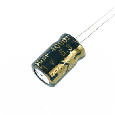 10pcs 6.3v 1000uf 6.3volt 1000mfd Electrolytic Capacitor 812
