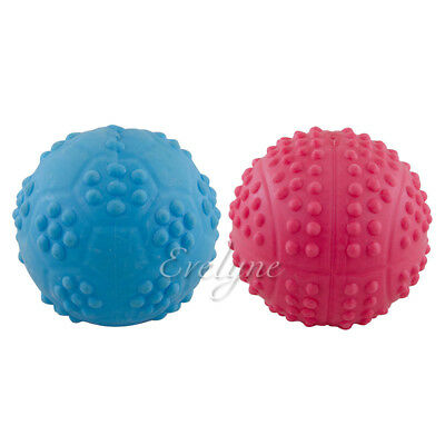 2-Piece Set Pet Supplies Soft Chew Squeaky Toy For Dog Deluxe Ball - Colors -