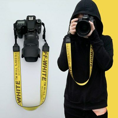 New OFF White Print Camera Strap Belt Shoulder Neck Belt For Digital camera SLR