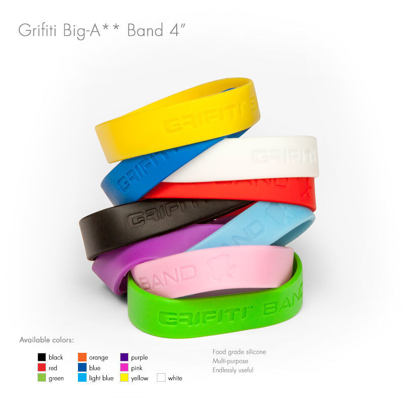 Grifiti Band Joes 4 Inch 20 Pack Tough Silicone Replaces Rubber or Elastic Bands