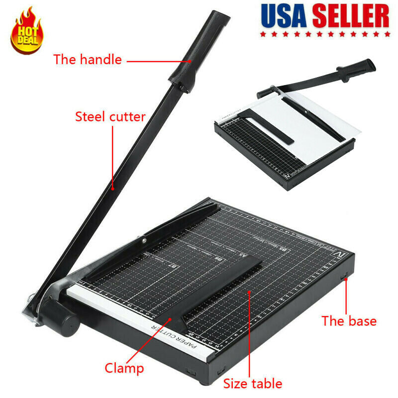 18'' A4 To B7 Heavy Duty Guillotine Paper Cutter Photo T-rim