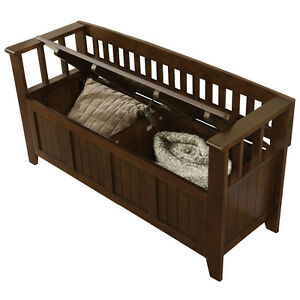 Acadian Storage Bench - Espresso Brown