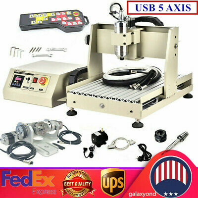 Cnc 3040 5axis Router Engraving Carving Machine Cnc Metal Milling Machine Rc