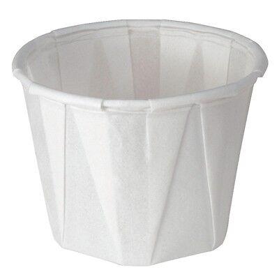 250 x Disposable Sauce Dish 1oz Dip Sauce Pots Bowls Souffles Bowl White Waxed Sauce Dish Bowl