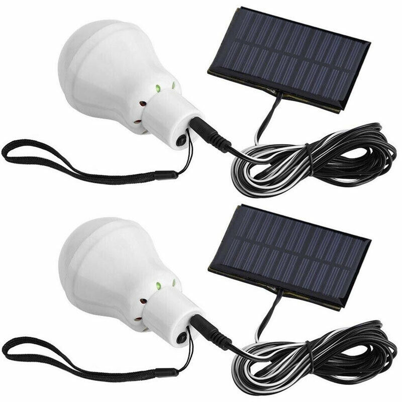 Solar Led Bulb Light For Chicken Coops Shed Hiking Fishing Camping Tent Lighting