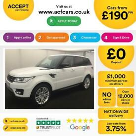 LAND ROVER R/R SPORT FUJI WHITE 3.0 SDV6 306 HSE DIESEL FROM £190 PER WEEK!