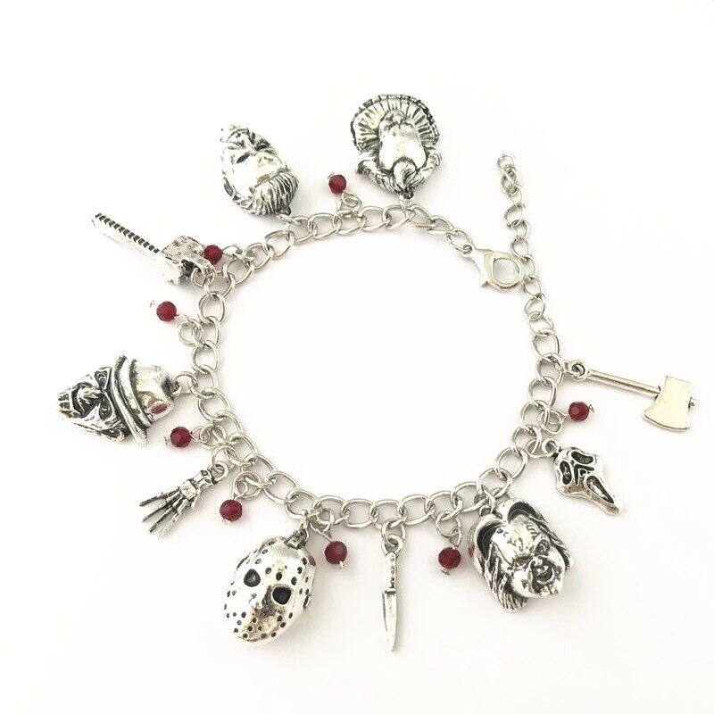 Horror Themed Charm Bracelet