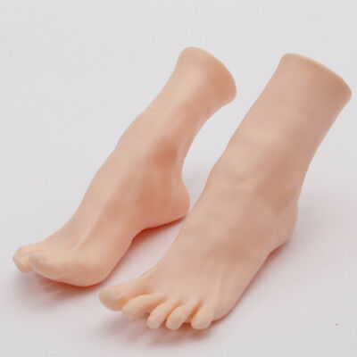 New 1pair Womens Lifelike Soft Foot Mannequin Display Shoes Socks Toes Separate