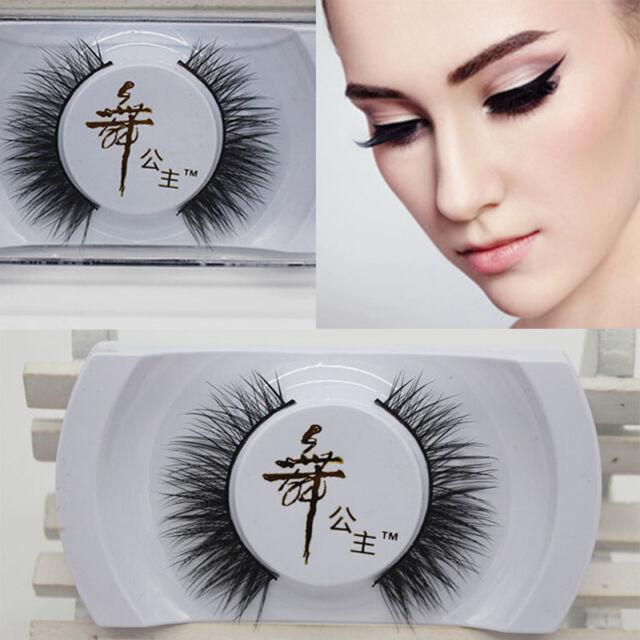 Elegant Real Mink Natural Thick False Fake Eyelashes Eye Lashes Makeup Extension