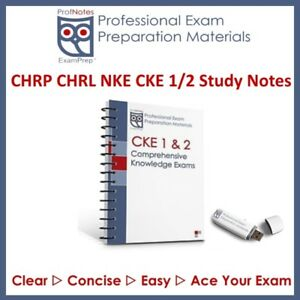 CHRP CKE1 CKE2 2018 HR Press Study Guide Exam Prep Study Notes