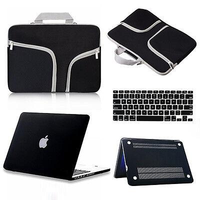 Carry Bag+Matte Hard Case+Keyboard Cover Set for Macbook Pro/Air/Retina 11/13/15