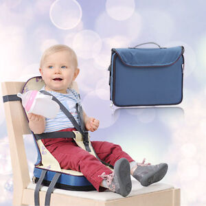 cyb portable foldable travel baby dining chair booster seat bag feeding harness. Black Bedroom Furniture Sets. Home Design Ideas