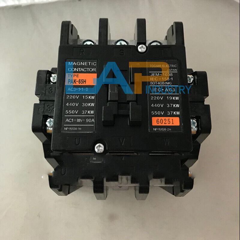 1PCS new For TOGAMI AC contactor PAK-65H AC220V PAK65H