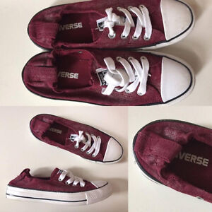 BURGUNDY CONVERSE SHOES FOR WOMEN