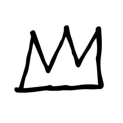 Home Decoration - Crown vinyl decal sticker artist art contemporary modern painting basquiat