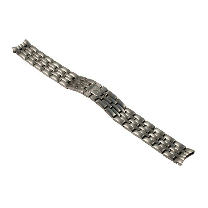 NIVREL Metallarmband, massiv, Baguetteband, Doppelfaltschließe, rund, 14 mm