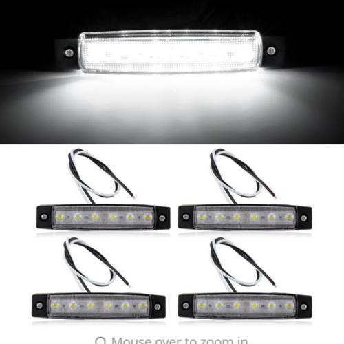 4PC Marine Grade 12 volt Large Waterproof Cool White LED Courtesy Lights