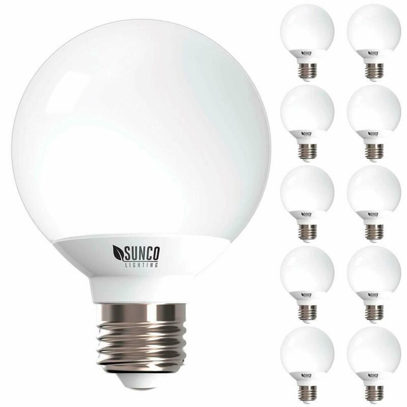 Sunco Lighting 10 Pack G25 Led Globe, 6W=40W, Dimmable, 450