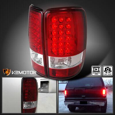 2000 Gmc Yukon Denali - 2000-2006 GMC Yukon Denali XL Red Lens LED Tail Lights Brake Lamp