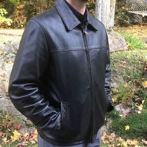 Manteau COLUMBIA en cuir véritable pour homme