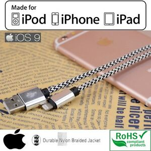 BRAIDED USB DATA CABLE CHARGER, SYNC WIRE / IPHONE 5S,6,6+,6S+,7 Regina Regina Area image 6