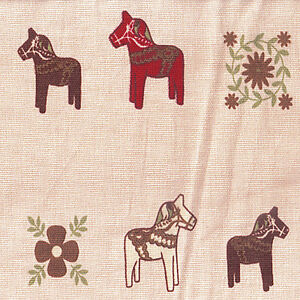 Cotton-100-Upholstery-Cover-Curtain-Wooden-Horse-dots