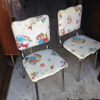 Two Vintage Kids Chairs