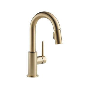 Delta 9959 Trinsic Single Handle Pull Down Bar Prep Faucet Champ